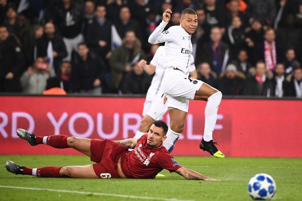 Lovren was dreadful against PSG. (Photo by Franck Fife/AFP/Getty Images)