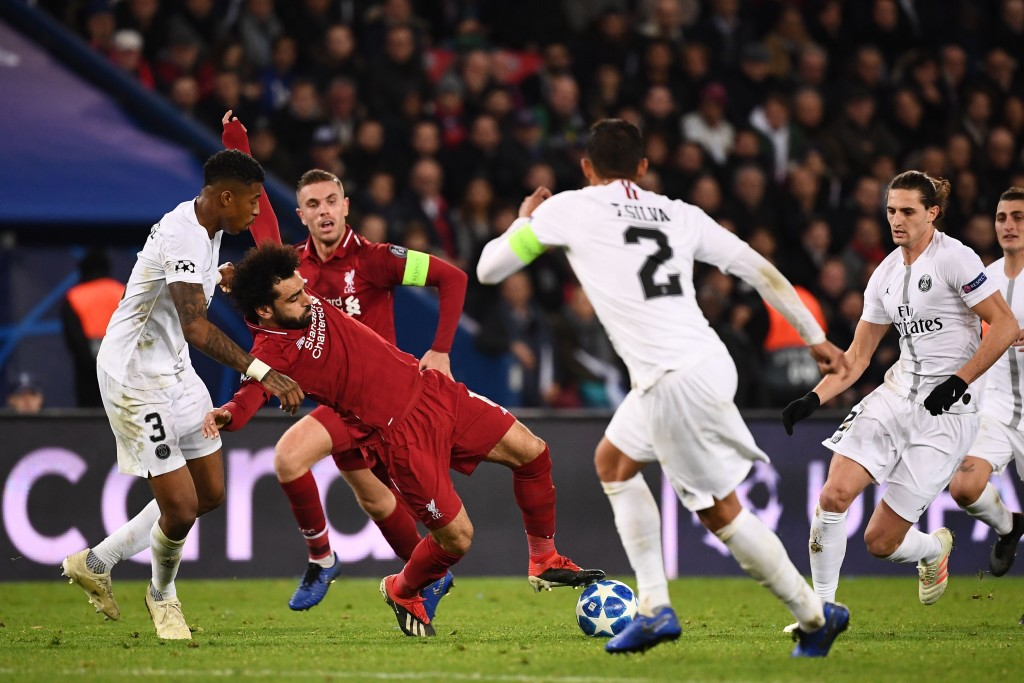 Salah struggled to find his best form at Parc des Princes. (Photo by Franck Fife/AFP/Getty Images)