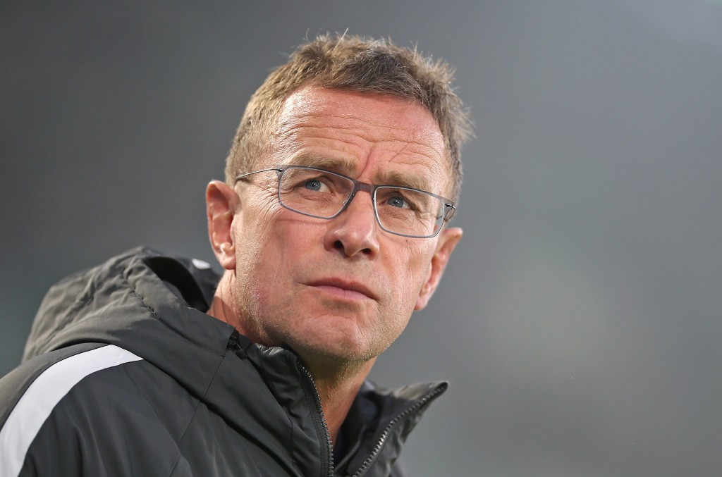 WOLFSBURG, GERMANY - NOVEMBER 24: Ralf Rangnick, head coach and sports director of RB Leipzig looks on prior to the Bundesliga match between VfL Wolfsburg and RB Leipzig at Volkswagen Arena on November 24, 2018 in Wolfsburg, Germany. (Photo by Cathrin Mueller/Bongarts/Getty Images)