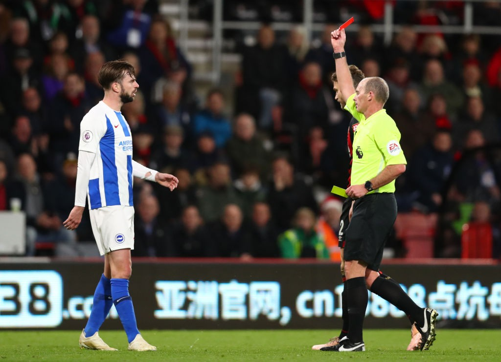 Lewis Dunk will miss the Arsenal game after his red card last weekend. (Photo courtesy: AFP/Getty)