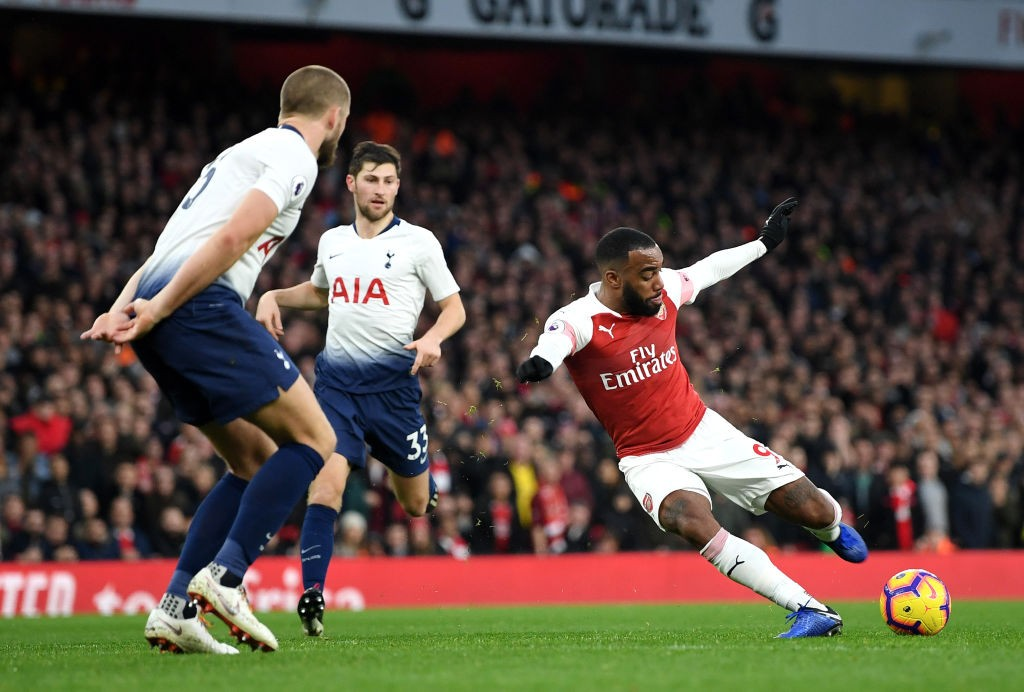 Lacazette scores the crucial third goal for Arsenal. (Photo courtesy: AFP/Getty)