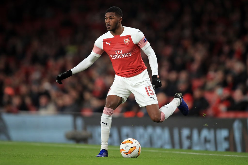 Ainsley Maitland-Niles had a good game against Qarabag playing in two different positions. (Photo courtesy: AFP/Getty)