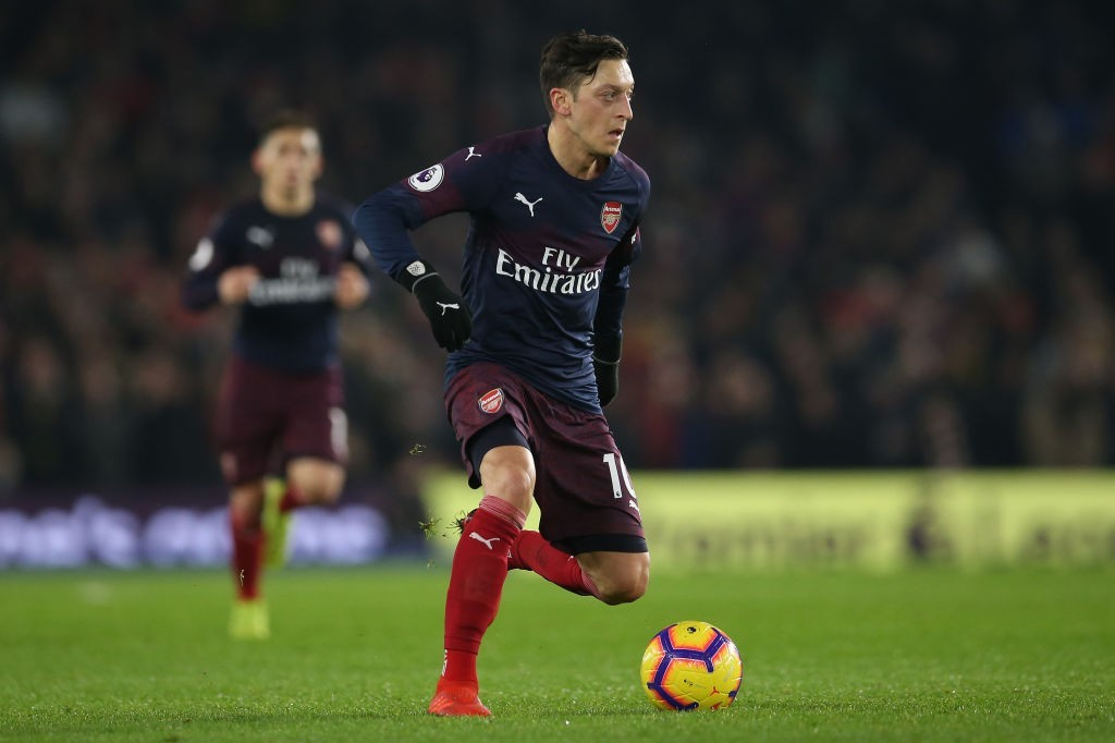 Ozil had a disappointing game against Brighton. (Photo by Steve Bardens/Getty Images)