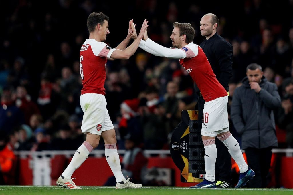 Kosicelny and Monreal could be Arsenal's starting central defenders against Southampton. (Photo courtesy: AFP/Getty)