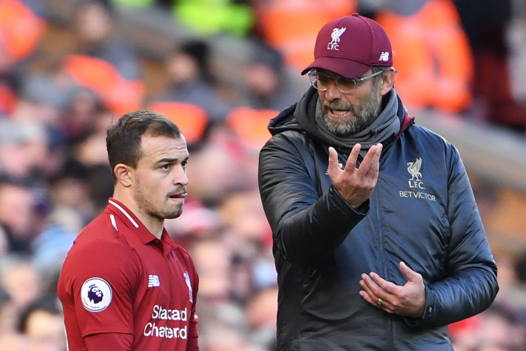 Shaqiri seems to be struggling with his confidence. (Picture Courtesy - AFP/Getty Images)