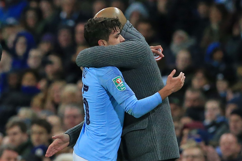 Can Pep Guardiola persuade Diaz to stay put? (Photo by Lindsey Parnaby/AFP/Getty Images)