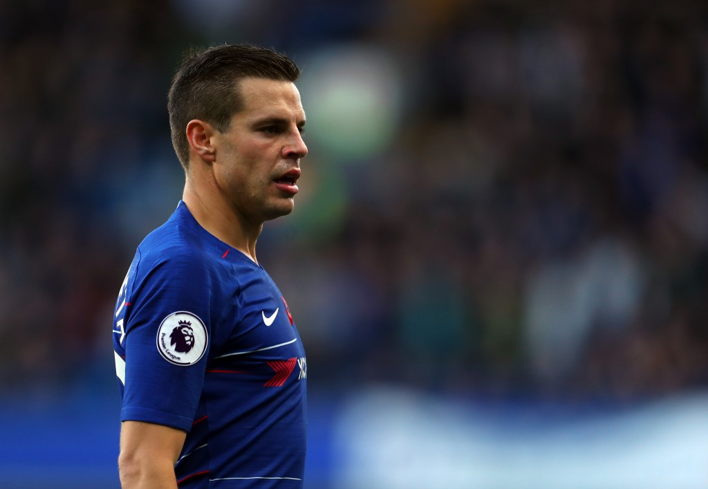 Azpilicueta was involved in a heated exchange with Sarri (Photo by Catherine Ivill/Getty Images)
