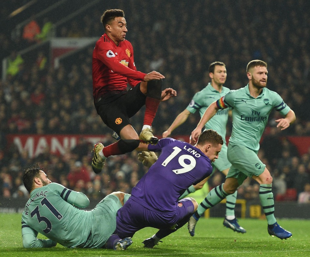 Mustafi was one of the guilty parties as Jesse Lingard scored the equaliser for Manchester United. (Photo by Oli Scarff/AFP/Getty Images)