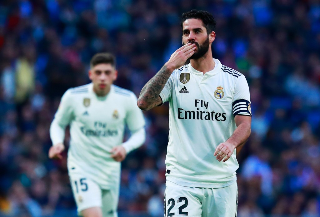 A step in the right direction for Isco. (Photo by Gonzalo Arroyo Moreno/Getty Images)
