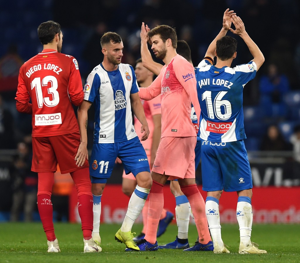 Comfortable outing for Pique (Photo by Alex Caparros/Getty Images)