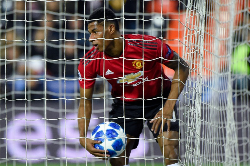 Barcelona, Real Madrid are trying to net a deal for Rashford. (Picture Courtesy - AFP/Getty Images)