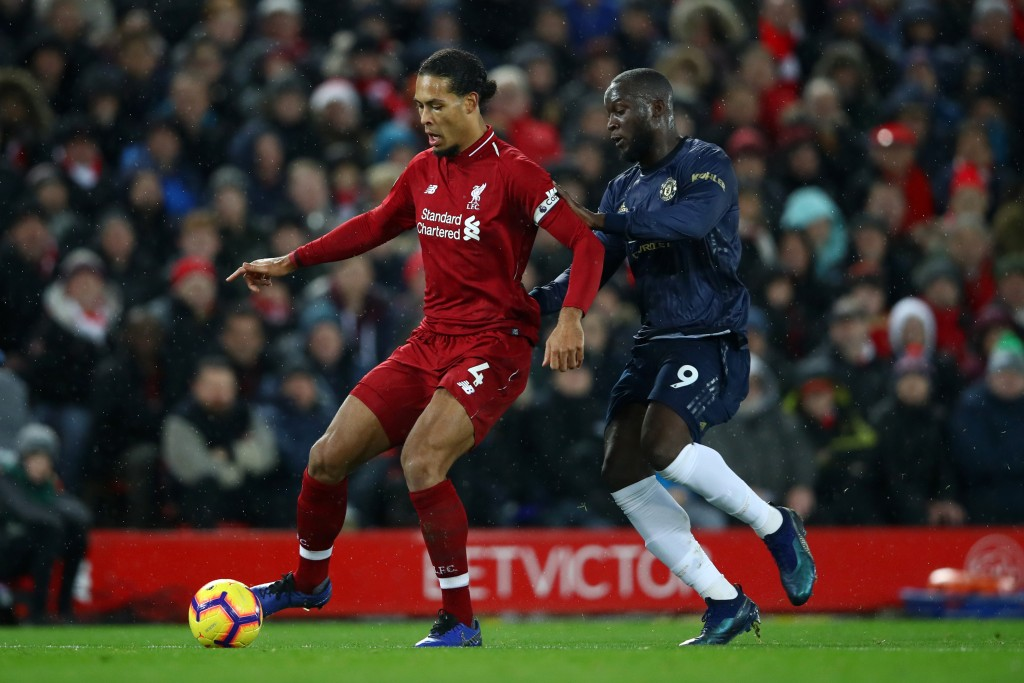 Lukaku struggled to get the better of Virgil van Dijk. (Photo by Clive Brunskill/Getty Images)