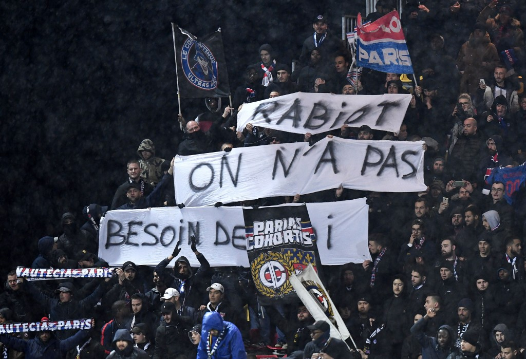 """Rabiot, we don't need you"" - Rabiot has become the pantomime villain at PSG. (Picture Courtesy - AFP/Getty Images)"