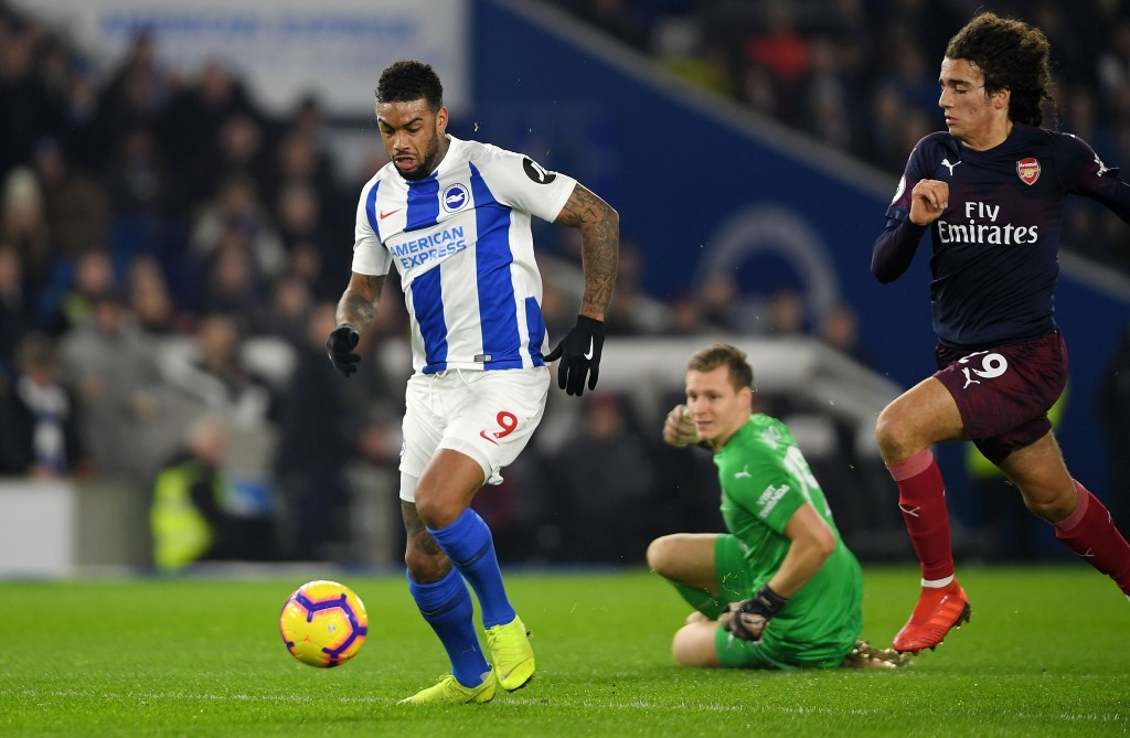 Bernd Leno's decision making was partly to be blamed for the goal that Brighton scored. (Photo by Mike Hewitt/Getty Images)