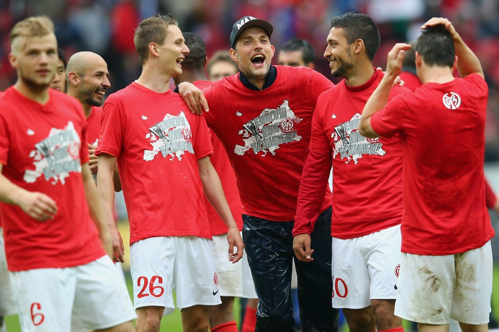 Tuchel grew into prominence at Mainz. (Photo by Alex Grimm/Bongarts/Getty Images)