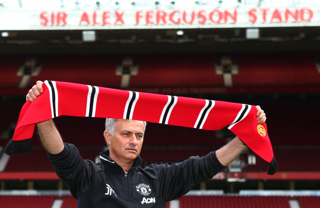 Mourinho finally landed his dream job of managing Manchester United in 2016. (Photo by Dave Thompson/Getty Images)