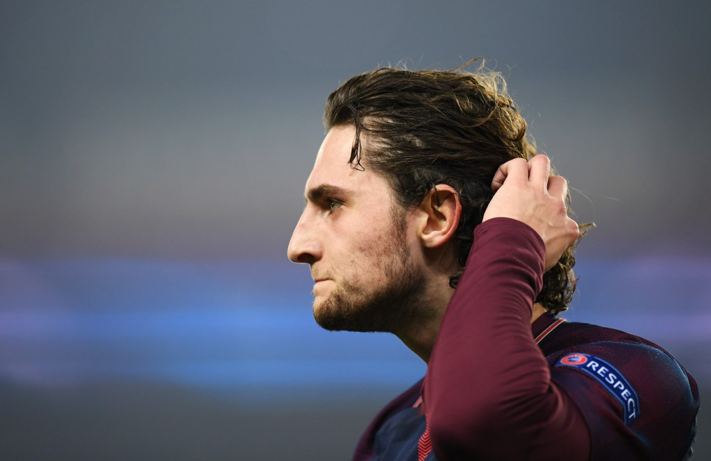 PARIS, FRANCE - MARCH 06: Adrien Rabiot of PSG looks dejected in defeat after the UEFA Champions League Round of 16 Second Leg match between Paris Saint-Germain and Real Madrid at Parc des Princes on March 6, 2018 in Paris, France. (Photo by Matthias Hangst/Getty Images)