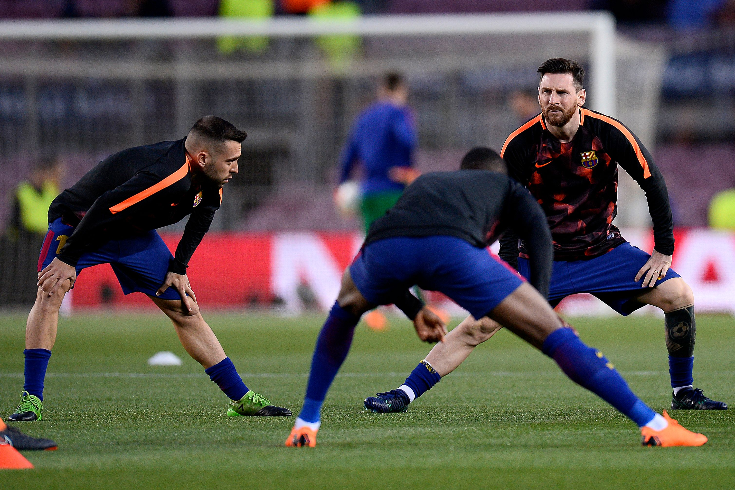 Jordi Alba and Lionel Messi will be unavailable for Barcelona (Photo by JOSEP LAGO/AFP/Getty Images)