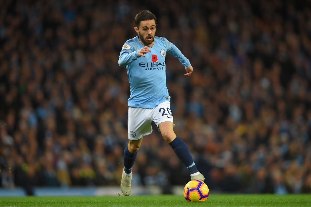 Bernardo Silva's performances have made him influential in the Manchester City side. (Photo by Mike Hewitt/Getty Images)