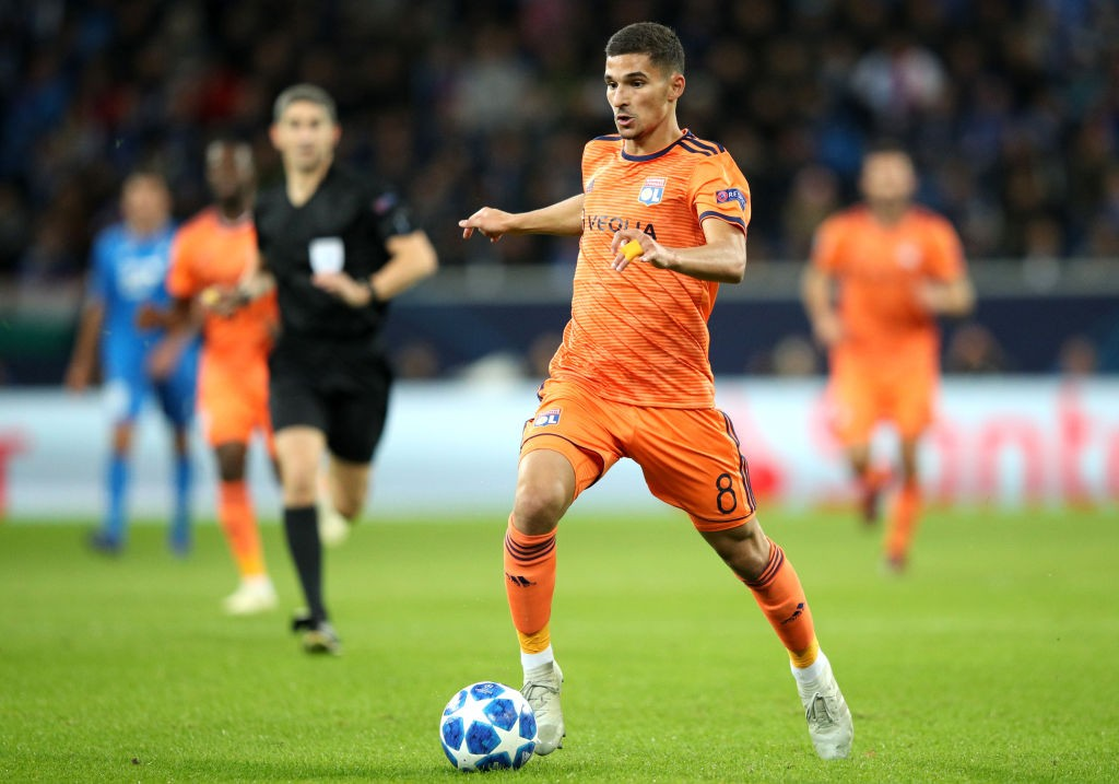 Houssem Aouar is available for a cut-price move this summer. (Photo by Adam Pretty/Bongarts/Getty Images)