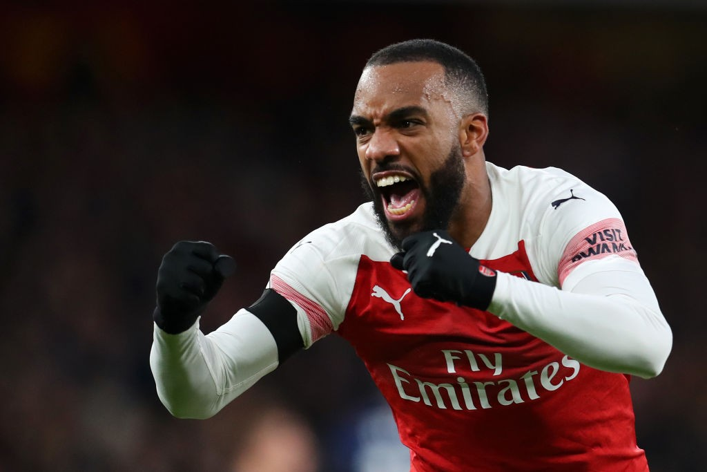 Lacazette finally scored after going several games without a goal. (Photo courtesy: AFP/Getty)