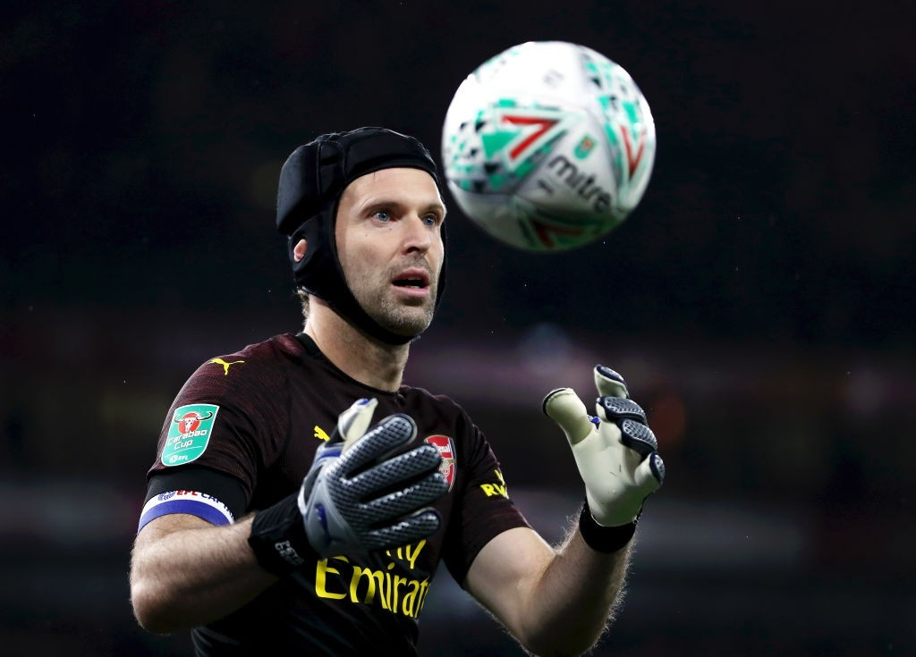 Petr Cech will come back between the posts against Blackpool. (Photo by Naomi Baker/Getty Images)