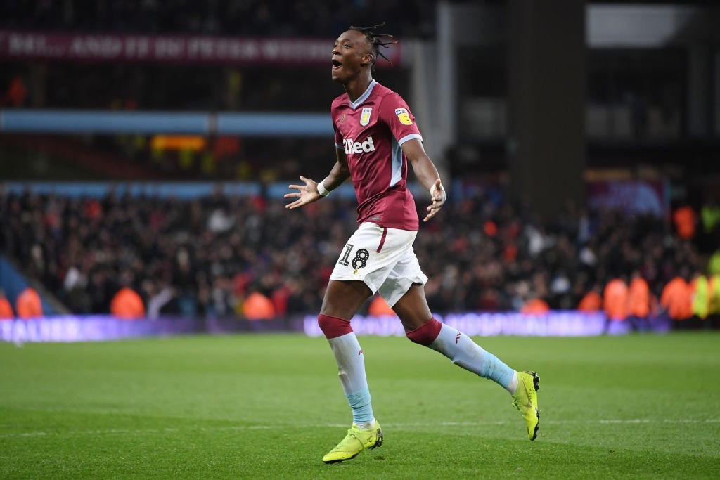 Tammy Abraham has been in prolific form at Aston Villa this season, scoing 16 goals in 20 games so far. (Photo by Laurence Griffiths/Getty Images)