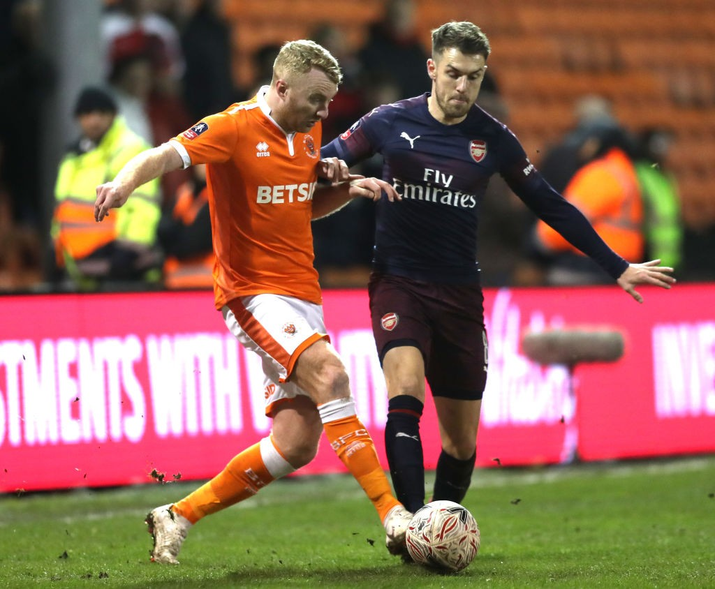 Aaron Ramsey was a brilliant presence against Blackpool. (Photo courtesy: AFP/Getty)