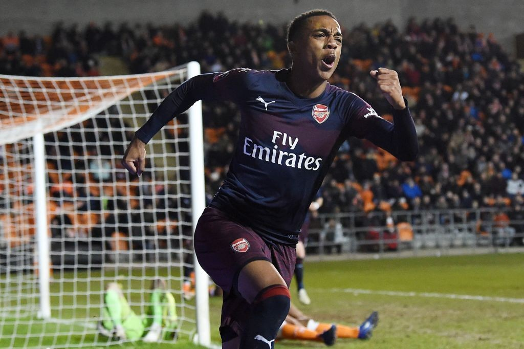 Joe Willock showed his talent with two effective goals against Blackpool. (Photo courtesy: AFP/Getty)