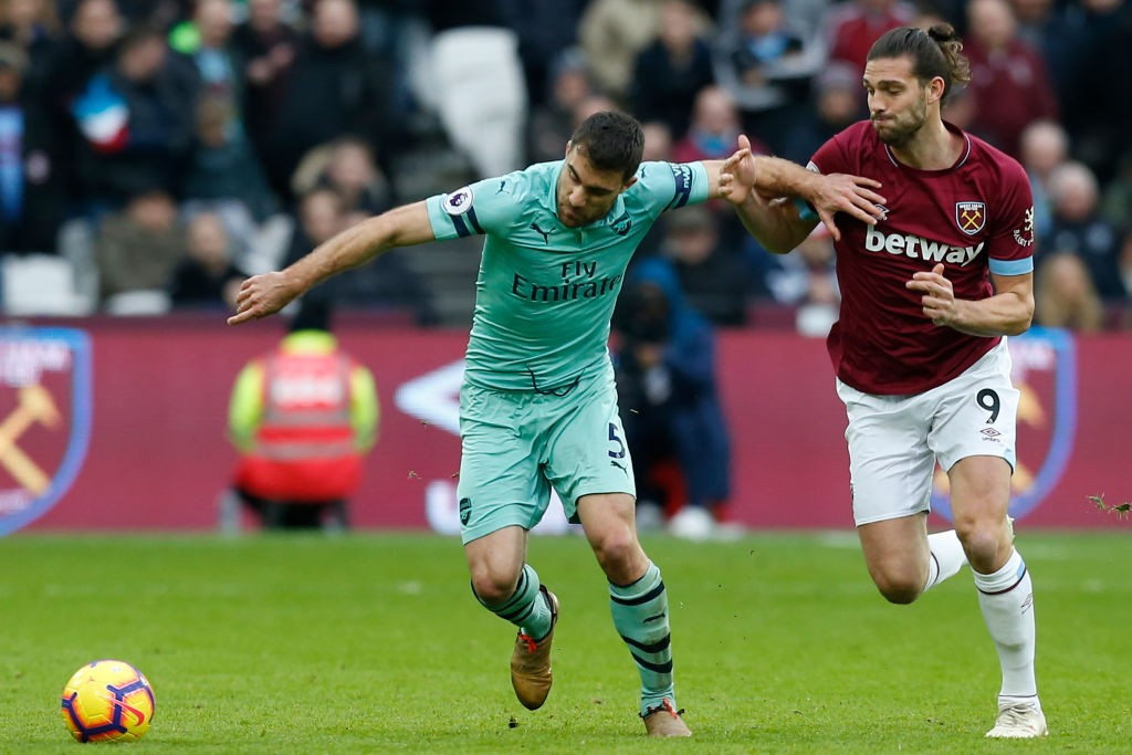 Sokratis led the Arsenal defence altough will be disappointed with the loss. (Photo courtesy: AFP/Getty)