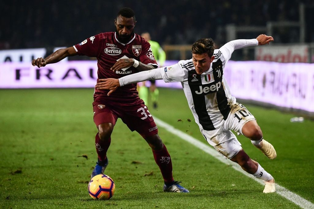 Nicolas Nkoulou has been Torino's star player this season, leading the defence superbly. (Photo by Marco Bertorello/AFP/Getty Images)