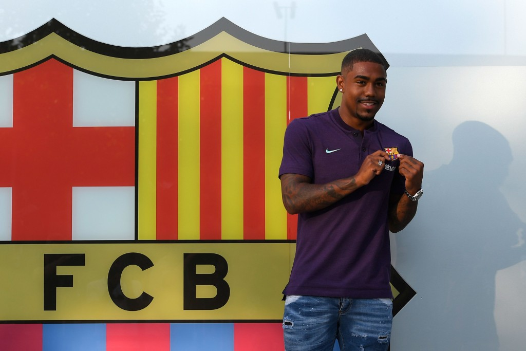Mere months after making his way to Camp Nou, Malcom's Barcelona future is up in the air. (Photo by Lluis Gene/AFP/Getty Images)