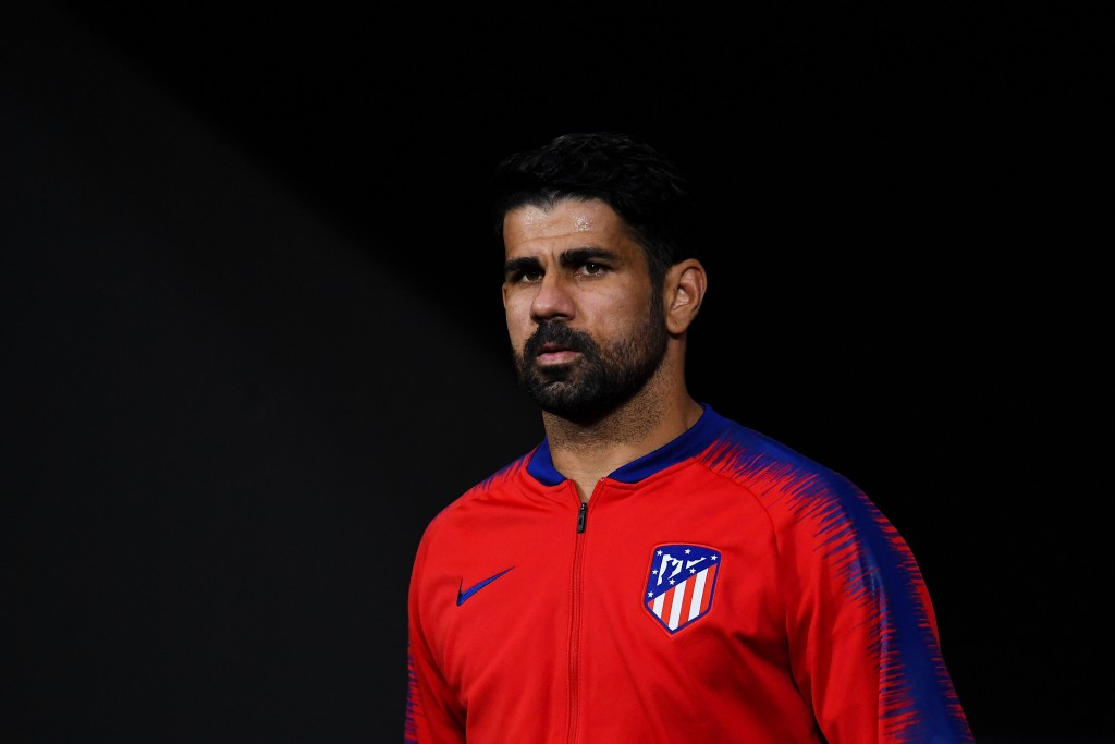 MADRID, SPAIN - OCTOBER 03: Diego Costa of Club Atletico de Madrid looks on prior to the Group A match of the UEFA Champions League between Club Atletico de Madrid and Club Brugge at Estadio Wanda Metropolitano on October 3, 2018 in Madrid, Spain. (Photo by David Ramos/Getty Images)