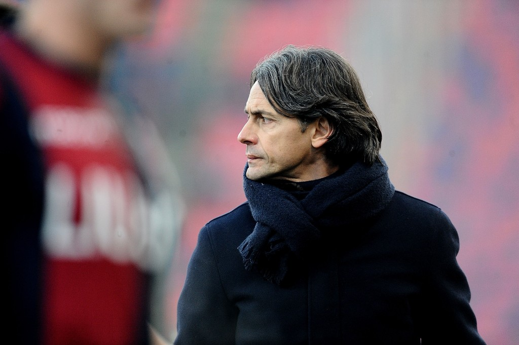 BOLOGNA, ITALY - DECEMBER 26: Filippo Inzaghi head coach of Bologna FC looks on during the Serie A match between Bologna FC and SS Lazio at Stadio Renato Dall'Ara on December 26, 2018 in Bologna, Italy. (Photo by Mario Carlini / Iguana Press/Getty Images)