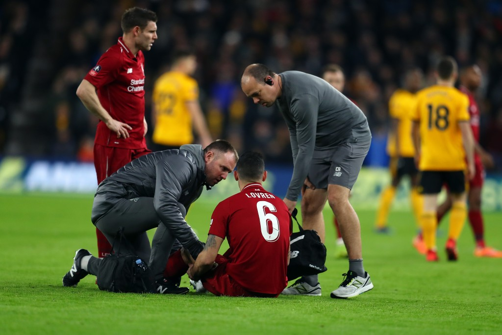 Lovren will be missing for the rest of the month. (Photo by Catherine Ivill/Getty Images)