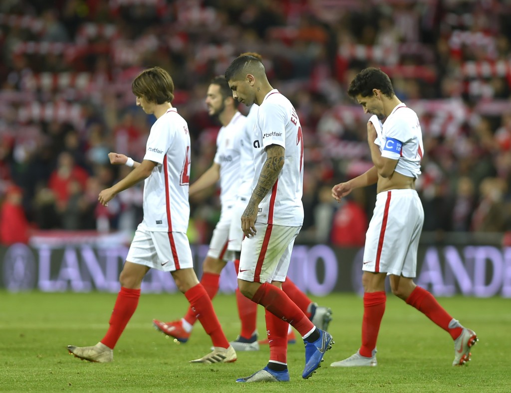 The heads have started falling at Sevilla. (Photo by Ander Gillenea/AFP/Getty Images)