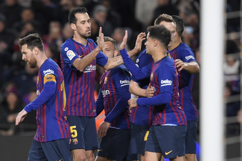 Barcelona are on a run of six straight wins. (Photo by Lluis Gene/AFP/Getty Images)