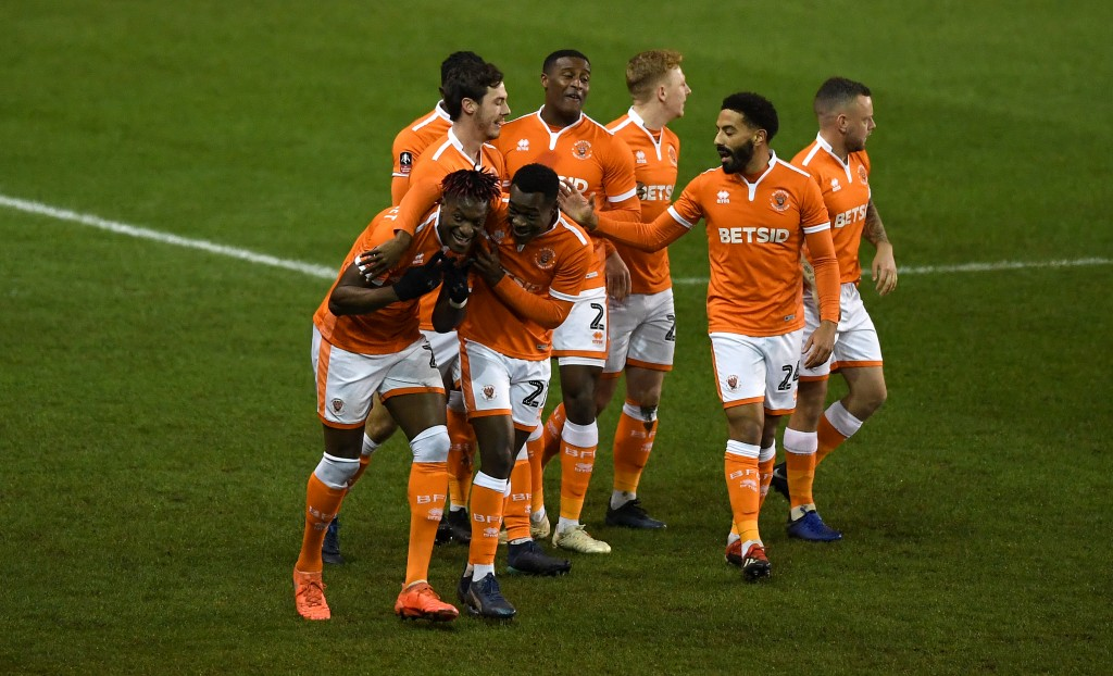 The 4-2 win over Sunderland will have given Blackpool a spring in their step. (Photo by Gareth Copley/Getty Images)
