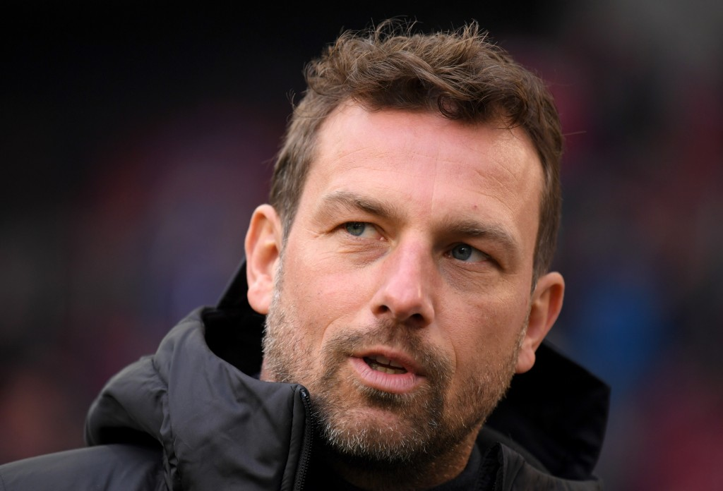 STUTTGART, GERMANY - JANUARY 19: Markus Weinzierl, Manager of VfB Stuttgart looks on prior to the Bundesliga match between VfB Stuttgart and 1. FSV Mainz 05 at Mercedes-Benz Arena on January 19, 2019 in Stuttgart, Germany. (Photo by Matthias Hangst/Bongarts/Getty Images)