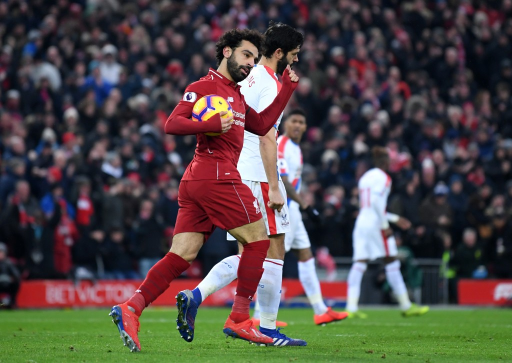 Salah to the rescue (Photo by Laurence Griffiths/Getty Images)