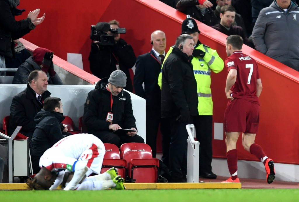 Milner sees red (Photo by Laurence Griffiths/Getty Images)