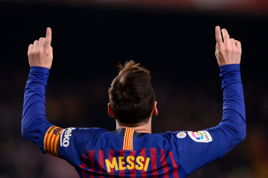 There's no stopping Messi. (Photo by Josep Lago/AFP/Getty Images)