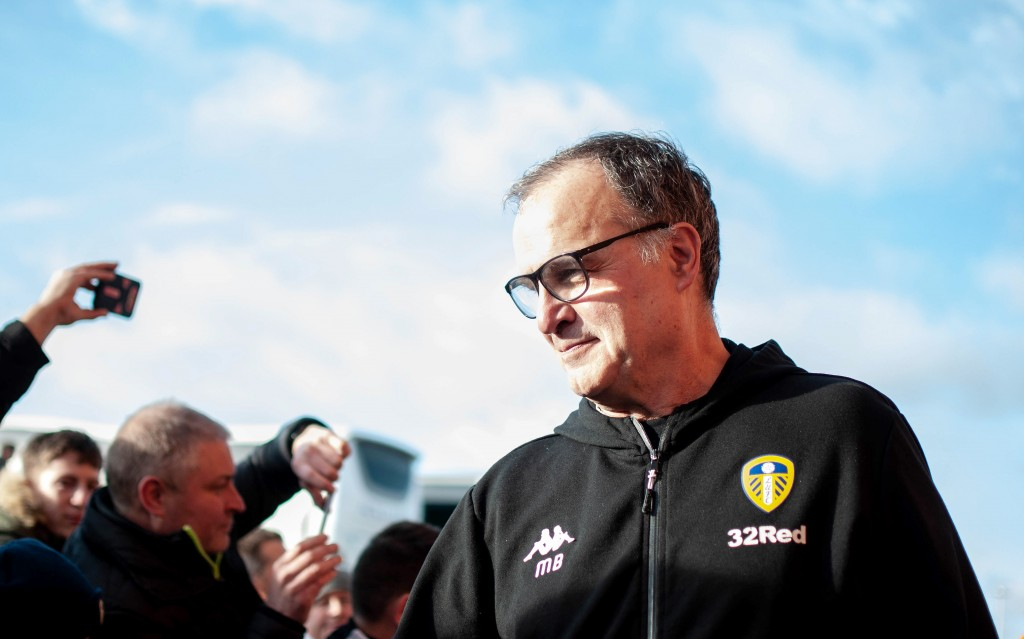 Bielsa has endeared himself to the Leeds United fanbase. (Photo by George Wood/Getty Images)
