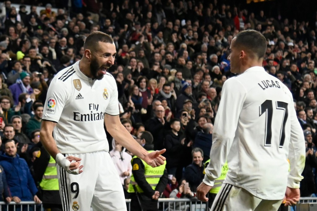 Benzema and Vazquez scored for Real (Photo by JAVIER SORIANO/AFP/Getty Images)