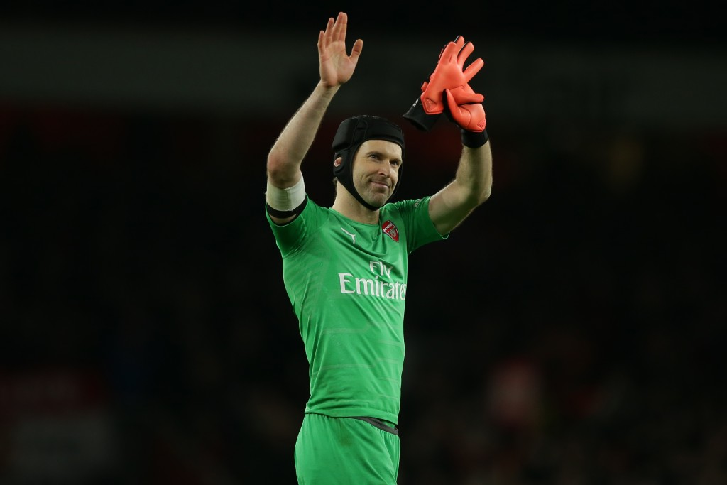 Time for Cech to hang up those gloves. (Photo by Daniel Leal-Olivas/AFP/Getty Images)