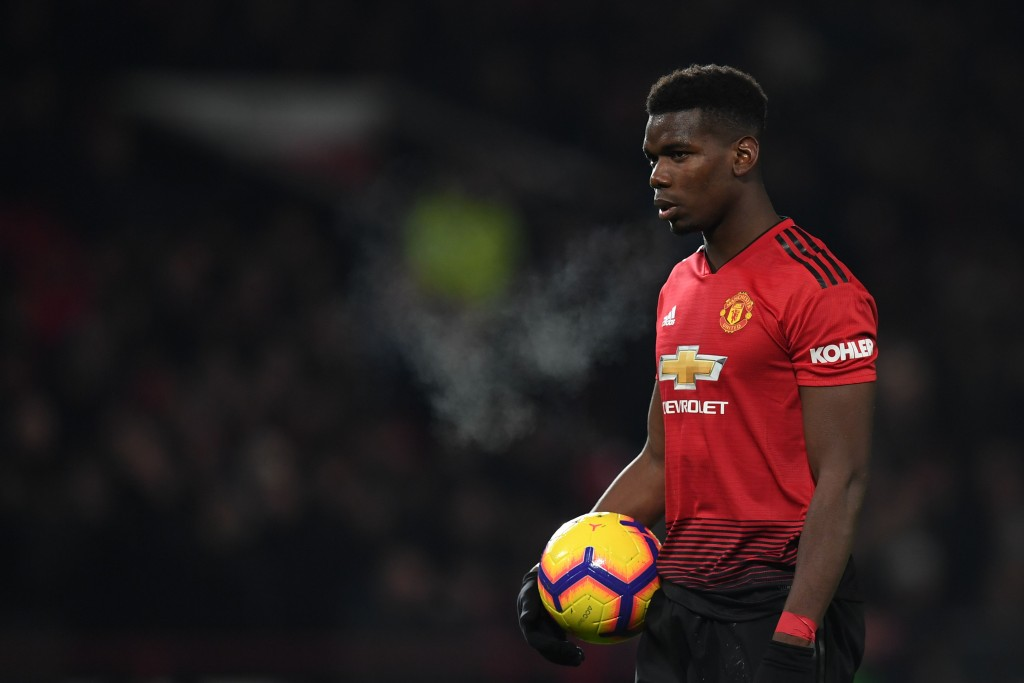 Pogba has been directly involved in 10 PL goals under Solskjaer (Photo by PAUL ELLIS/AFP/Getty Images)