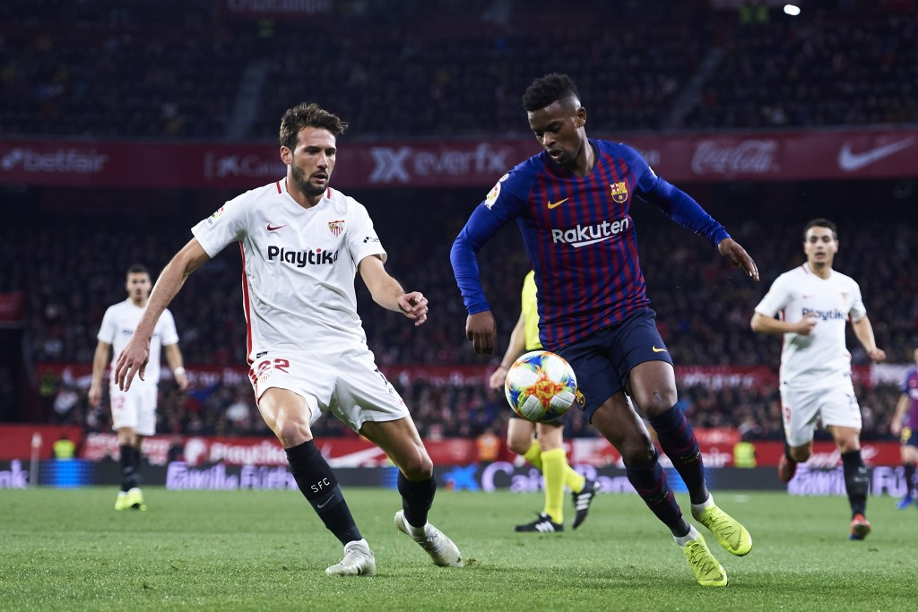 Taken out of his comfort zone, Semedo produced a mixed bag of a performance. (Photo by Aitor Alcalde/Getty Images)