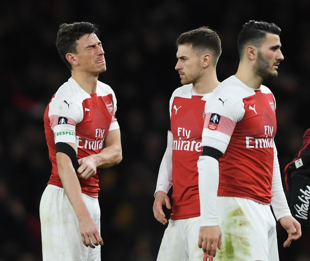 Arsenal's defence struggled (Photo by Mike Hewitt/Getty Images)