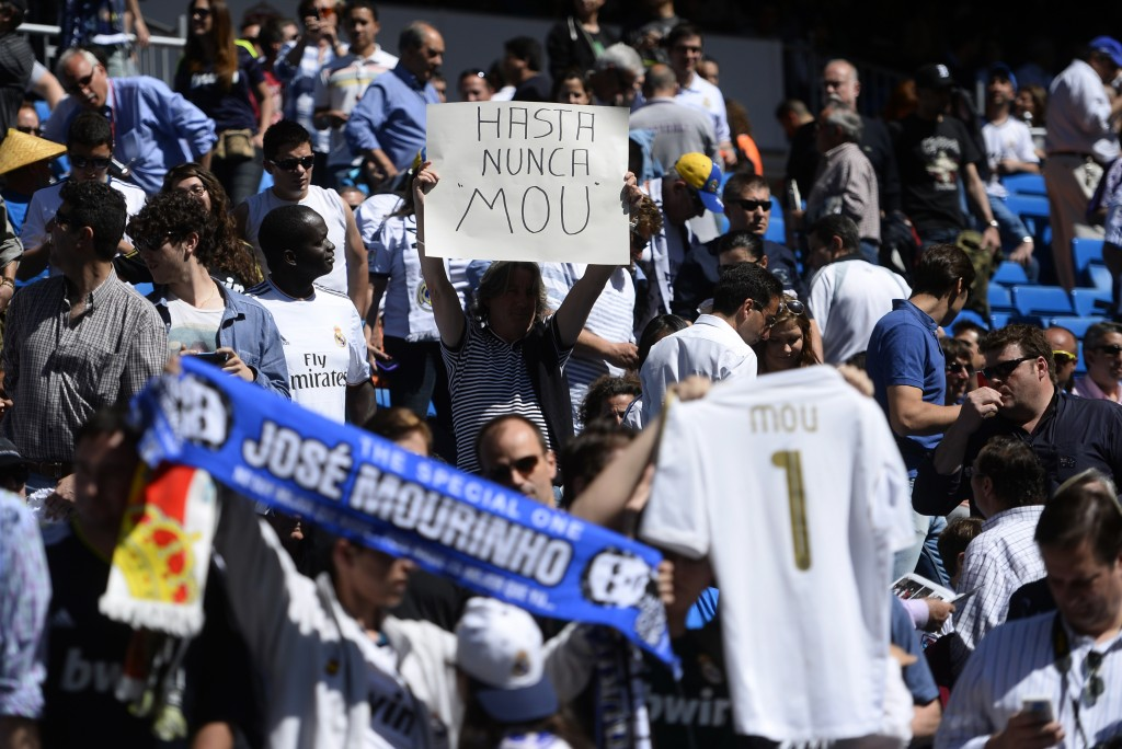 Will Jose Mourinho be the darling of Real Madrid fans again? (Photo by Pierre-Philippe Marcou/AFP/Getty Images)