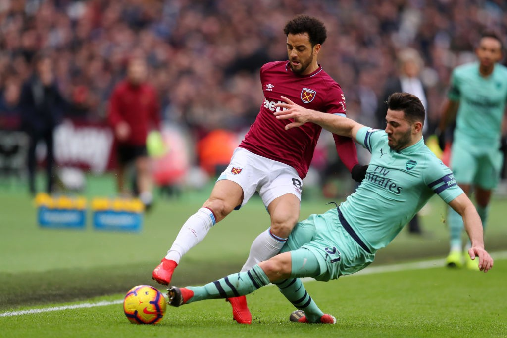 Kolasinac was impressive against West Ham. )Photo courtesy: AFP/Getty)